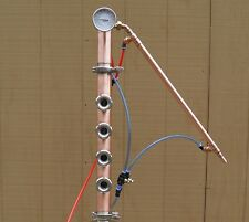 "2"" Copper Reflux Column, Mini Flute 185 Proof, Moonshine, Vodka W Cooling System"