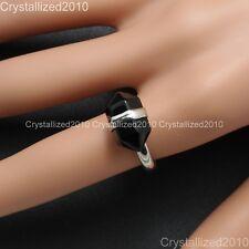 Natural Gemstone Hexagon Prism Healing Reiki Chakra Beads Silver Adjustable Ring