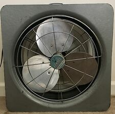 Vintage Lennox Furnace Co. Exhaust Box Window Fan, FASCO, Very Powerful