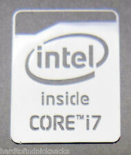 Intel Core i7 Inside Polished Metal Sticker 16 x 21mm [822]