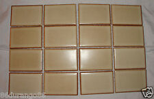"VINTAGE MOSAIC CERAMIC TILE 2""X3"" BEIGE DARK BROWN 10""X13"" SHEET JAPAN TITE LOC"