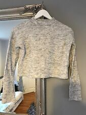 New Look Grey Cropped Jumper Size 6