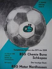 Programma 1985/86 BSG Chemie Buna Schkopau-MOTORE vivere Nord