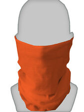 ORANGE FOOTBALL DESIGN SNOOD NECKTUBE NECKWARMER FACEMASK L&S PRINTS