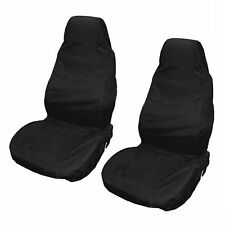 2x Universal Car Seat Cover Front Waterproof Van Auto Vehicle Protector Black
