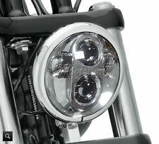 "5-3/4"" Chrome LED Headlight Daymaker Projector For Harley Softail Sportster Dyna"
