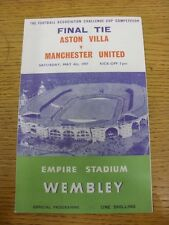 04/05/1957 FA Cup Final: Aston Villa v Manchester United [At Wembley] Four Page