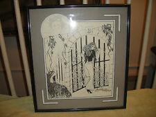 Amazing G. Seals Framed Art Drawing-Spanish Castle Magic-Gothic Black & White