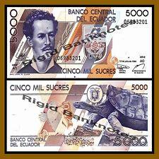 Ecuador 5000 Sucres, 1999 P-128 (?) Unc