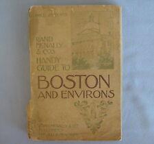 1899 RAND McNALLY HANDY GUIDE to BOSTON & ENVIRONS