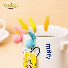 10pcs/set Snail Silicone Coffee Tea Infuser Bag Holder Strainer Clip Cup Mug