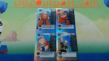 Dbz Ccg Panini Tcg Set of Krillin Rainbow Main Personalities levels 1-4 premier!