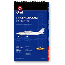 Piper Seneca I PA-34-200 Quick Reference Aircraft Checklist Book by Qref