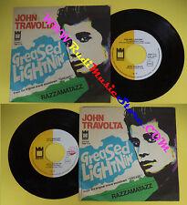 LP 45 7''JOHN TRAVOLTA Greased lightnin'Razzamatazz 1978 italy MIDSONG*cd mc dvd