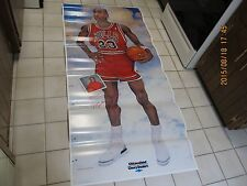 RARE NOS 1988 MICHAEL JORDAN GROWTH LIFESIZE CHEVROLET PROMO POSTER AIR 3 76x35