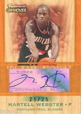 Martell Webster 2007-08 Topps Trademark Moves Signature Auto graph #21/25