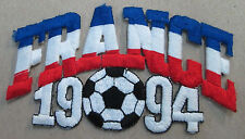 FRANCE COLLECTABLE RARE VINTAGE PATCH EMBROIDED 1994 OLYMPIC SOCCER WORLD CUP