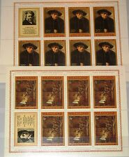 RUSSIA SOWJETUNION 1976 Klb 4551 4555 4511 4515 Rembrandt Paintings Art MNH