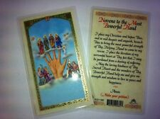 HOLY PRAYER CARDS FOR THE NOVENA TO THE MOST POWERFUL HAND SET OF 2  FREE SHIP!