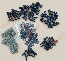 Black Fairing Bolts Kit Windscreen Screw for Kawasaki ZZR400 ZZR600 ZXR ZRX