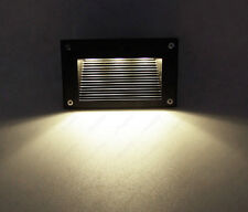 Outdoor 3W LED Wall Light Stairs Recessed Lamp Fixture+ Mounting Box S Garden