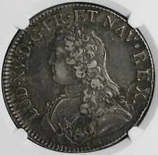 1736-H NGC XF FRANCE Louis XV Silver Ecu Crown Coin (15082301C)