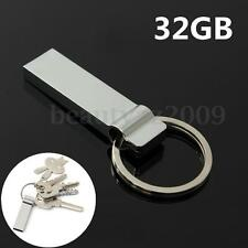 32GB Metal Key Chains Style USB 2.0 Flash Stick Memory Thumb Storage Pen