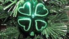 New Blown Glass Irish Shamrock St Patricks Day Christmas Ornament