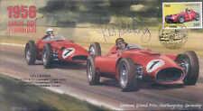 1956b LANCIA FERARI D50 & MASERATI 250F, NURBURGRING, signed LES LESTON