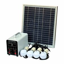 15W Solar Lighting Kit 4 LED Lights Solar Panel and Batt for Garage Shed Stables
