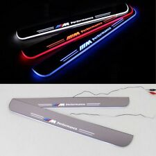 2pcs LED Moving Door Scuff Plate Step Light Panel Flash Sills Courtesy for BMW M