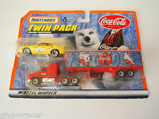 MATCHBOX COCA COLA TWIN PACK MACH CH600 1:97 & YELLOW BMW?