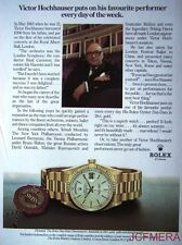 1979 ROLEX Datejust Chronometer Watch Advert - (Jose Ignacio Domecq) Print AD