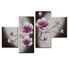 Framed Original Hand Paint Oil Painting on Canvas Home Decor Wall Art Flowers