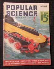 1935 POPULAR SCIENCE Monthly Magazine v.127 #4 VG New Inventions