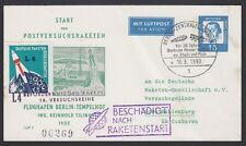 GERMANY, 1962. Rocket Flight Card Berlin, 48C1a