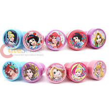 Disney Princess Self Ink Stamps 10pc Tangled Cinderella Snow White Belle Aurora