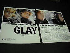 GLAY Massive Success In Japan RARE 1999 two-piece PROMO DISPLAY AD wow!