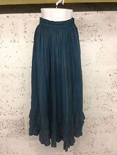 Ladies True Vintage Monsoon Prairie Boho Turquoise Skirt X Small C75