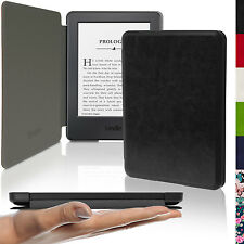 Nero Ultra Sottile Ecopelle Custodia per Amazon Kindle 2014 7 Gen. Case Cover