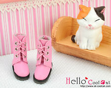☆╮Cool Cat╭☆【04-03】Blythe Pullip Doll Shoes Boots # Honey Pink