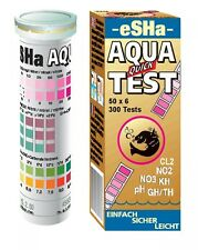 Esha Aqua Quick Test 50 strisce di prova no2 no3 PH KH GH/TH Acquario Test Kit