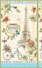 PARIS FOREVER EIFFEL TOWER ROSES BICYCLE FABRIC PANEL
