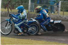BYRON BEKKER HAND SIGNED SCUNTHORPE SCORPIONS SPEEDWAY 6X4 PHOTO.