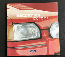 Ford Escort RS Turbo Sales Brochure August 1987