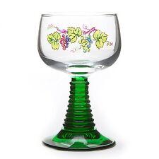 6 Verres à Vin d'Alsace pied torsadé motif VIGNOBLE
