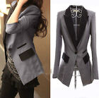 New Womens Shrug Suit OL Suits Blazers Fashion Hot Slim Fit Coats Lapel Jackets