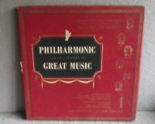 PHILHARMONIC FAMILY LIBRARY OF GREAT MUSIC ALBUM 1 Lp Offenbach Liszet Classical