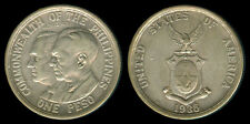 1936 US Commonwealth Of The Philippines QUEZON-MURPHY 1 Peso Coin 1