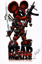 DEAD MOUSE Print HAND SIGNED Jamie Tyndall COA Mickey is Deadpool